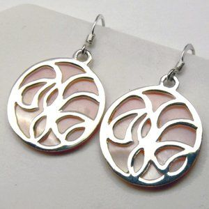 Sterling Silver with mother of pearl Earrings